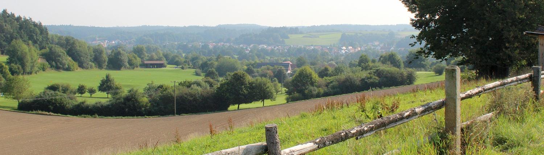 Reichertshausen von einer Anhöhe